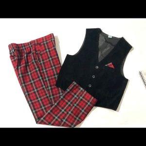 Class Club Velvet Vest & Holiday Boy's Pants 7